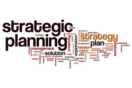 planificacion estrategica: Strategic planning word cloud concept