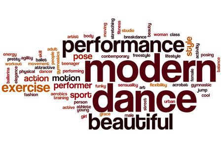 Modern dance word cloud concept