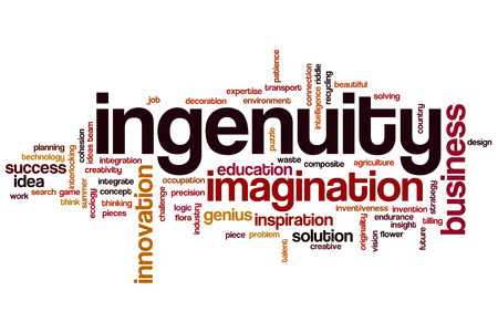 inventiveness: Ingenuity word cloud concept
