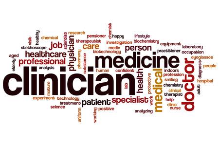 clinician: Clinician word cloud concept Stock Photo