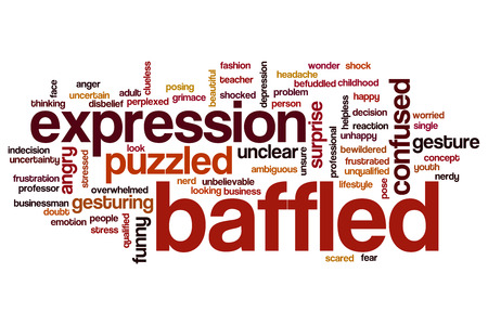 Baffled word cloud concept