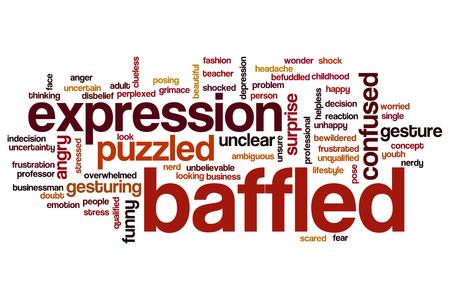 baffled: Baffled word cloud concept