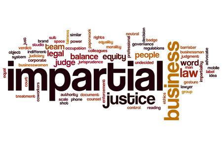 impartial: Impartial word cloud concept