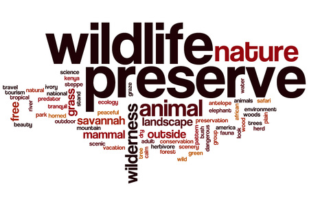 wildlife preserve: Wildlife preserve word cloud concept