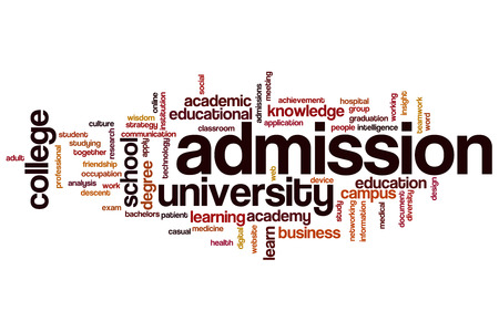 Admission word cloud concept