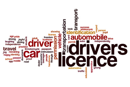 Drivers licence word cloud concept