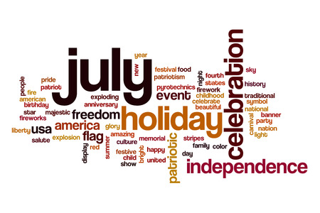 July word cloud concept