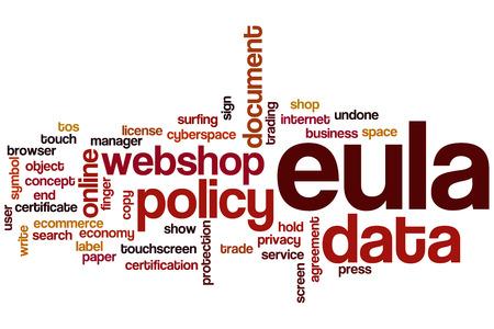 EULA word cloud concept