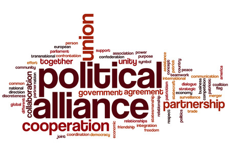 Political alliance word cloud concept