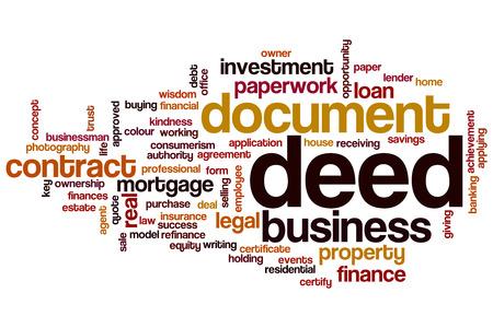 deed: Deed word cloud concept