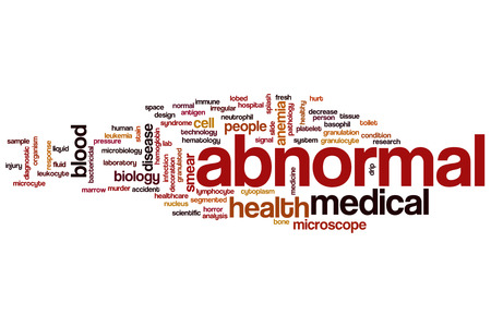 abnormal: Abnormal word cloud concept Stock Photo