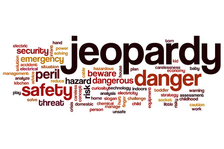 risky situation: Jeopardy word cloud concept