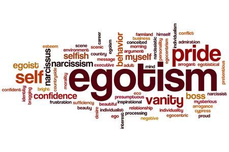 pretentious: Egotism word cloud concept Stock Photo