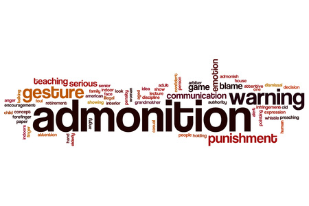 admonition: Admonition word cloud concept Stock Photo