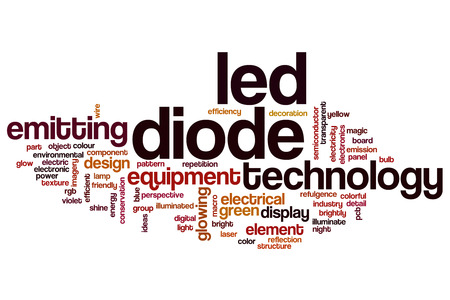LED diode word cloud concept