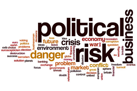 Political risk word cloud concept