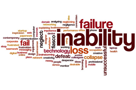 inability: Inability word cloud concept