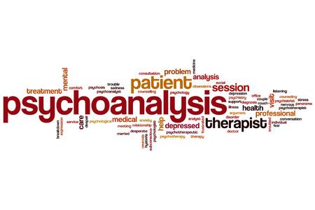 psychoanalysis: Psychoanalysis word cloud concept Stock Photo