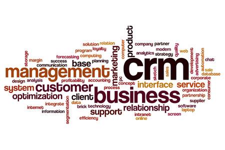CRM word cloud concept
