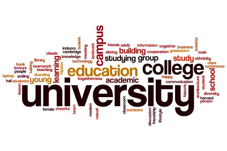 University word cloud concept