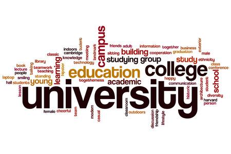 university word: University word cloud concept