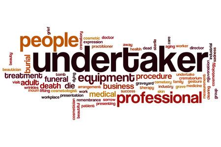 undertaker: Undertaker word cloud concept Stock Photo