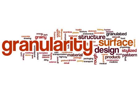 Granularity word cloud concept Stock Photo