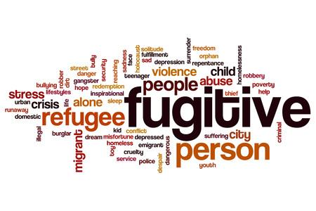 Fugitive word cloud concept