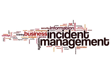 drp: Incident management word cloud concept