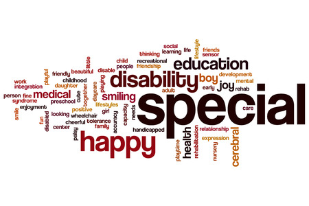 Special word cloud concept