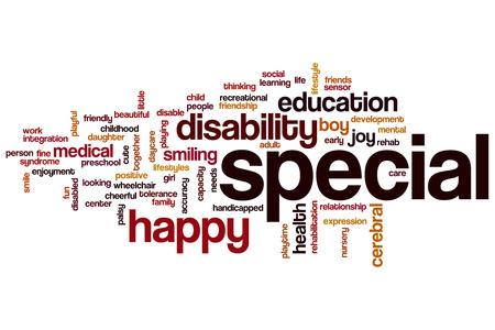 Speciaal woordwolkconcept