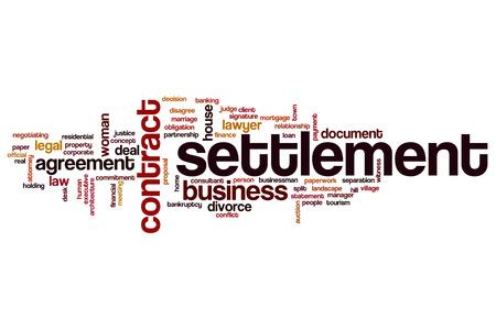 settlement: Settlement word cloud concept