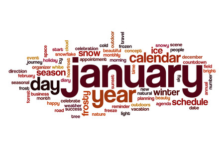 January word cloud concept