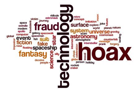 hoax: Hoax word cloud concept