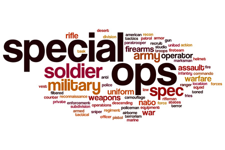 ops: Special ops word cloud concept