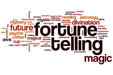 psychic reading: Fortune telling word cloud concept