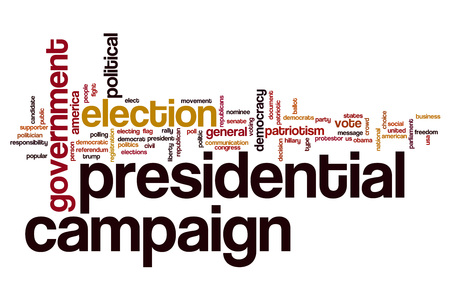 presidential: Presidential campaign word cloud concept Stock Photo