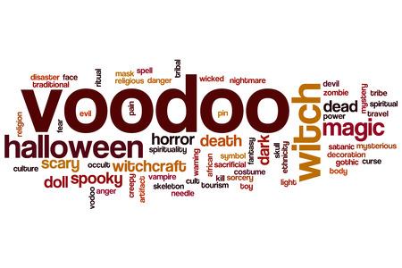 voodoo: Voodoo word cloud concept Stock Photo