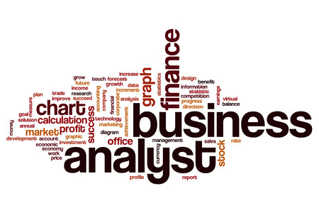 analyst: Business analyst word cloud concept