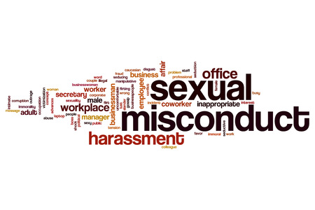 misconduct: Sexual misconduct word cloud concept
