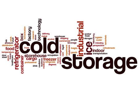 Celle frigorifere concetto della nube di parola Archivio Fotografico - 64193043