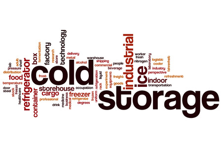 cold storage: Cold storage word cloud concept Stock Photo