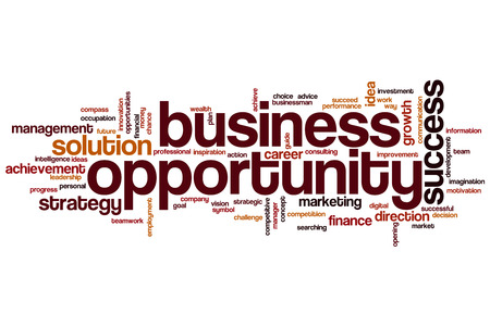 Business opportunity word cloud concept Foto de archivo