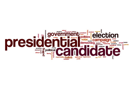 presidential: Presidential candidate word cloud concept