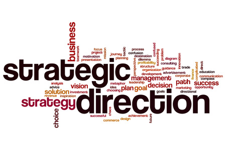 complicated journey: Strategic direction word cloud concept