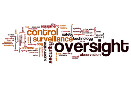 overseeing: Oversight word cloud concept