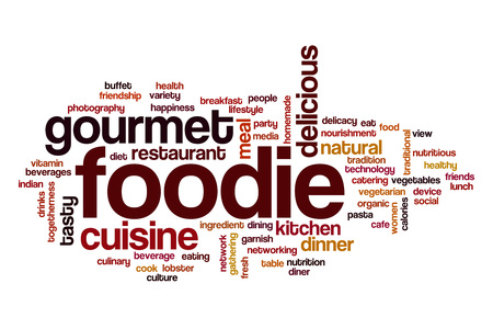 foodie: Foodie word cloud concept
