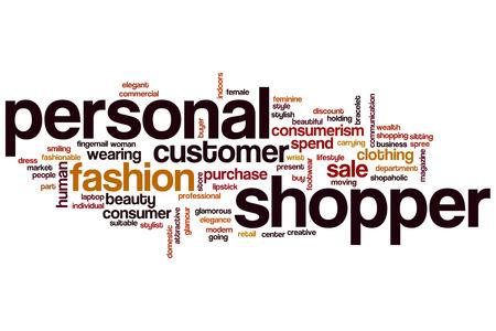 shopper: Personal shopper word cloud concept