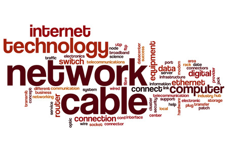 network connection: Network cable word cloud concept