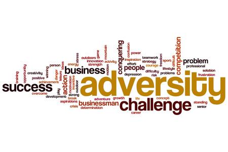 adversity: Adversity word cloud concept